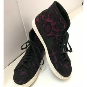 Nike Wms Diva Purple/Black Canvas/Lace HiTops Sz 8